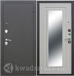Входная дверь Феррони Гарда 6 мм Царское зеркало Муар/ Белый ясень