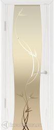 Дверь Кипарис 2 СТ Белое Лиана Дуб белый жемчуг 900*2000