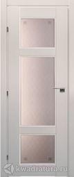 Межкомнатная дверь Краснодеревщик 6342 Дуб Беленый с патиной ДО Кружевное