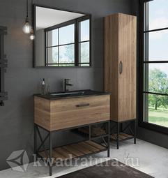 Комплект мебели для ванной Comforty Бредфорд 90 дуб темный