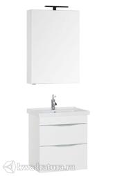 Комплект мебели для ванной Aquanet Эвора 60 белый