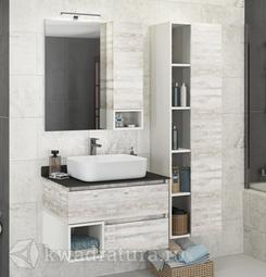 Комплект мебели для ванной Comforty Прага 75 дуб белый