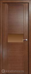 Межкомнатная дверь Мильяна Qdo-H дуб палисандр