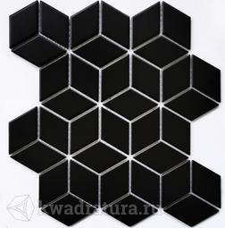 Мозаика керамическая Bonaparte Landa black (Matt) 26,7х30,9