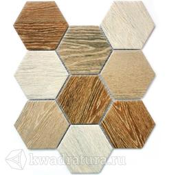 Мозаика керамогранитная Bonaparte Wood comb 29,5х25,6