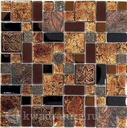 Мозаика стеклянная c камнем Bonaparte liberty-2 30х30