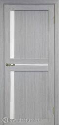 Межкомнатная дверь OPorte Турин 523АПС Молдинг SC Дуб серый