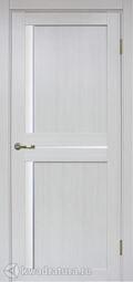 Межкомнатная дверь OPorte Турин 523АПС Молдинг SC Ясень серебристый