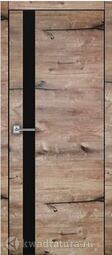 Межкомнатная дверь Royal 2 Дуб пацифика стекло черное