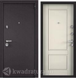 Дверь входная стальная Торэкс Super Омега 100  8019/ПВХ Слоновая кость SO-NC-1