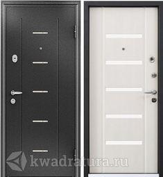 Дверь входная стальная Торэкс Super Омега 10 Черный шелк RP4/ПВХ БЕЛ перламутр RS-1