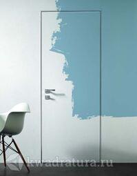 Межкомнатная скрытая дверь Invisible Eclipse с полотном под покраску и скрытыми петлями L/R