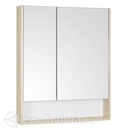 Зеркало-шкаф Акватон Сканди 70 белый/дуб верона